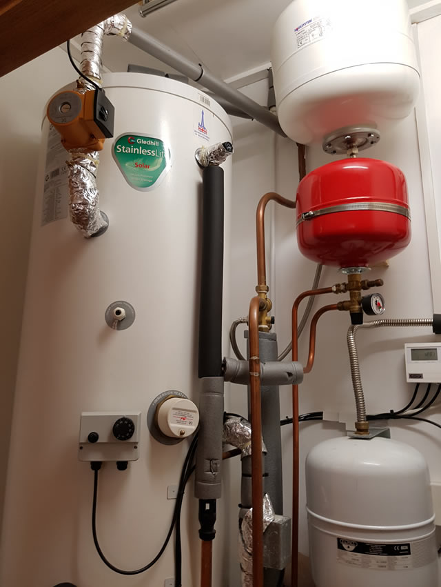 We service central heating and solar thermal systems